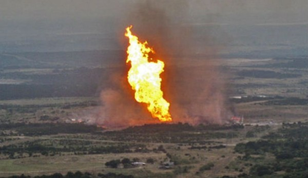 File photo of pipeline explosion