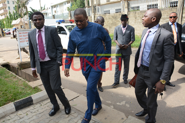 BREAKING: Fani-Kayode arrives EFCC headquarters in police convoy