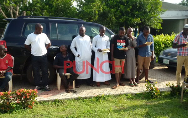 PRAYER SESSION HELD BY MUSLIMS FOR LATE COACH AMODU/PHOTOS