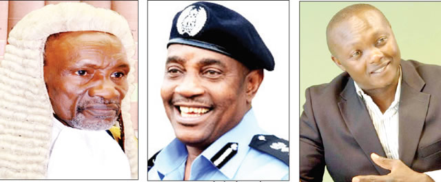 Chief Justice of Nigeria, Justice Mahmud Mohammed, Inspector General of Police, Solomon Arase, Obiagwu