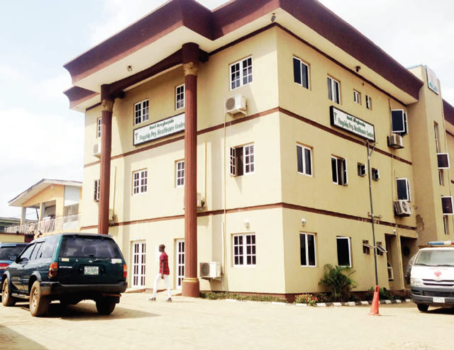 The Rauf Aregbesola flagship primary health care centre in Egbeda, Lagos... on Wednesday. Photo: Saheed Olugbon