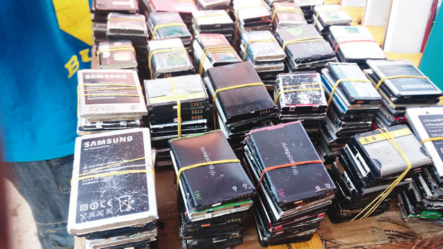 Dead phone batteries sold as tokunbo