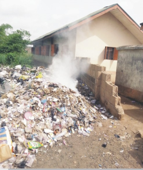 The heap of refuse at the dumpsite