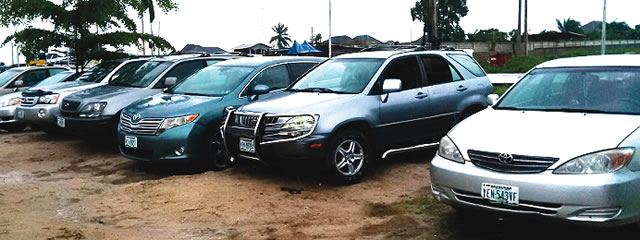 Stolen vehicles recovered by the police
