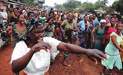 Women protest rape by young men in Enugu