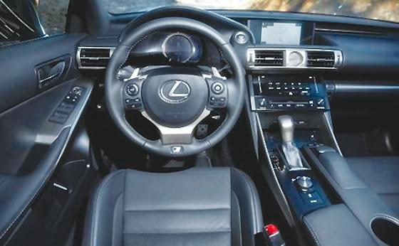 Lexus 2017 IS model interior