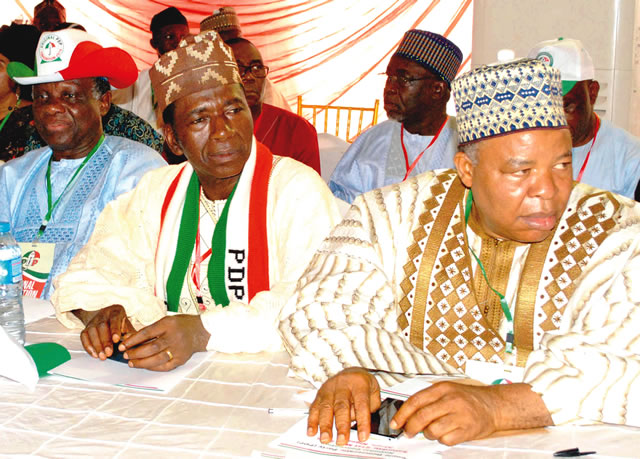 Abuja Convention: L-R: Prof. Jerry Gana, Prof. Tunde Adeniran and Sen. Ibrahim Mantu