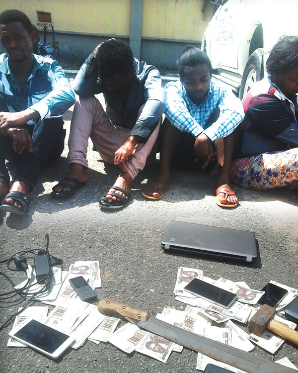 BUSTED!!! Police Arrest Syndicates Over Production Of Fake Naira Notes In Lagos (See Photos)